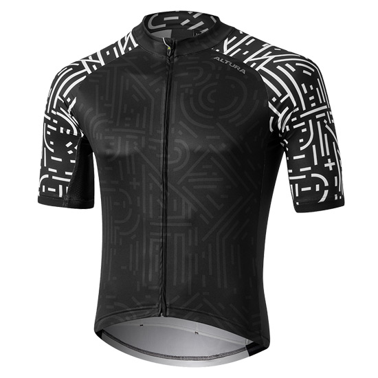 Altura Icon Osaka Short Sleeve Mens Jersey (Black-White)