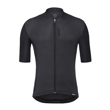 Santini Classe Mens Short Sleeve Jersey (Black)