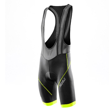 2XU Compression Mens Bib-Shorts (Black-Lime Punch)