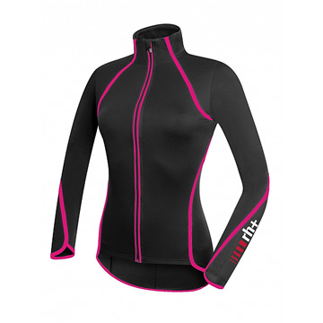 RH+ Zero Womens Long Sleeve Jersey (Black-Magenta)