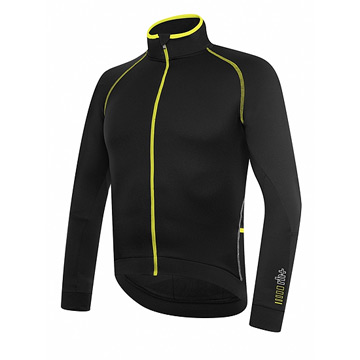RH+ Zero Mens Long Sleeve Jersey (Black-Fluo Yellow)
