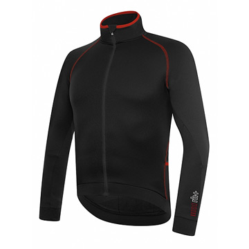 RH+ Zero Mens Long Sleeve Jersey (Black-Red)