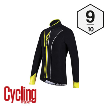 Santini Vega Acquazero Long Sleeve Jersey (Black-Yellow)