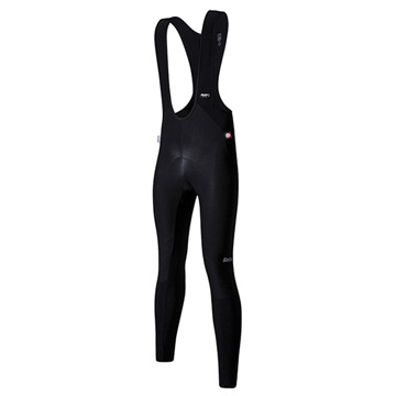Santini Jupiter Windstopper Bib Tights (Black)