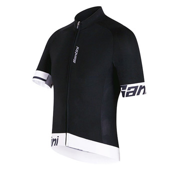 Santini Sleek 2 Aero Short Sleeve Jersey (White)