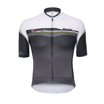 Santini Sleek Plus Mens Jersey (White)