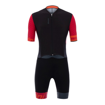 Santini Redux TT Road Mens Skin Suit (Red)