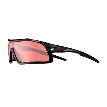 Tifosi Davos Enliven Bike Red Lens Sunglasses (Crystal Black)