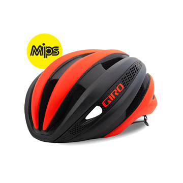 Giro Synthe MIPS Helmet (Vermillion-Charcoal) Small